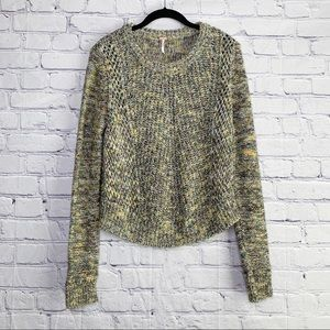 Free People Marled Knit Sweater Thumbholes Small
